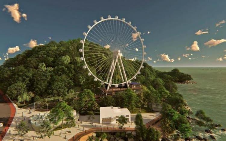 A roda gigante de Balneário Camboriú passa a operar no dia 11 de dezembro