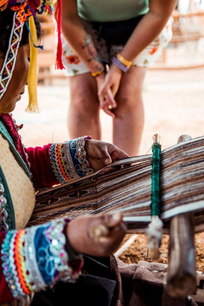 artesanato em Cusco, no Peru