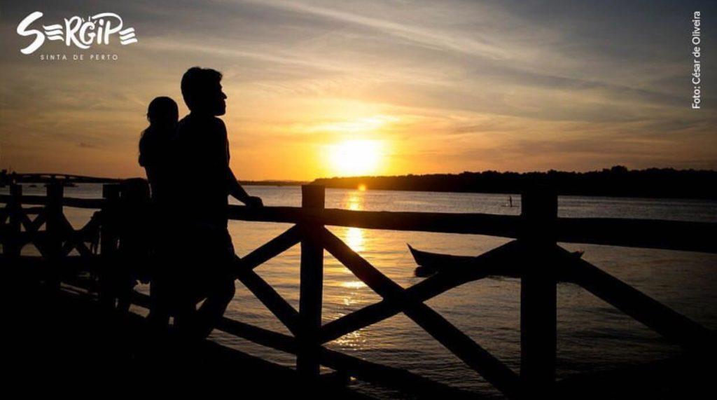 O por do sol deste ponto é uma das atrações de Sergipe