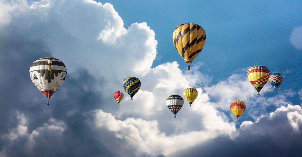 quais os melhores lugares para um passeio de balão