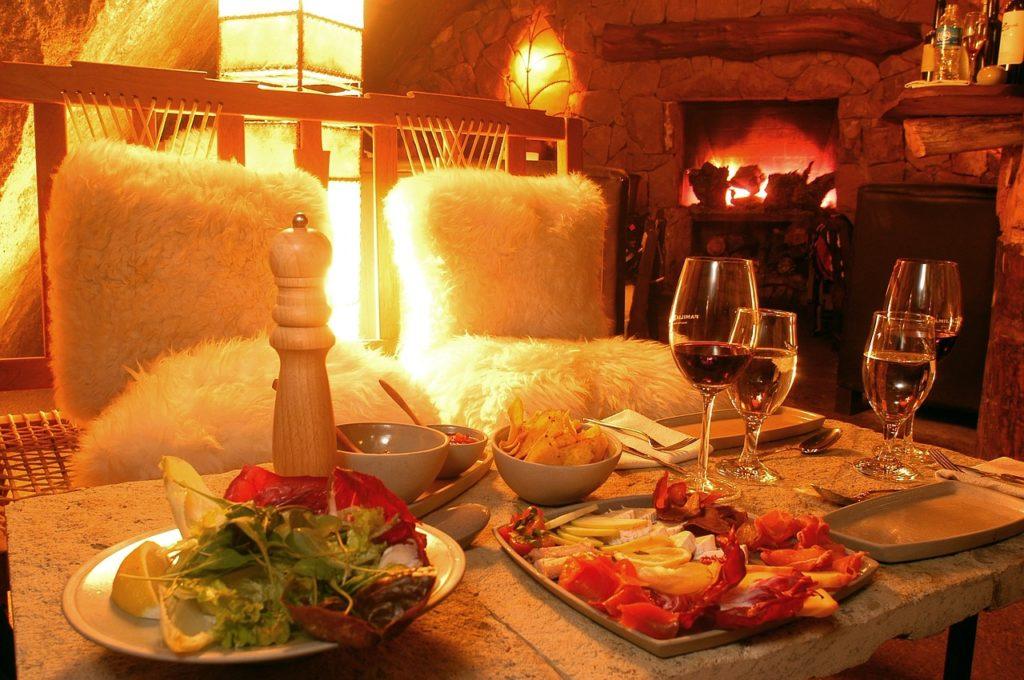 Os jantares são deliciosos e o clima frio ajuda na escolha