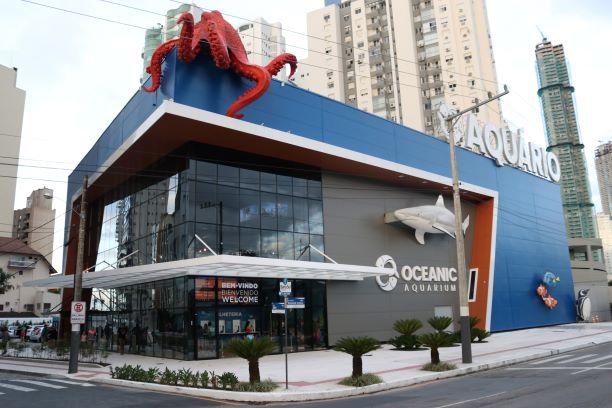 O Oceanic Aquarium é a nova atração, ideal para os dias de chuva em Balneário Camboriú