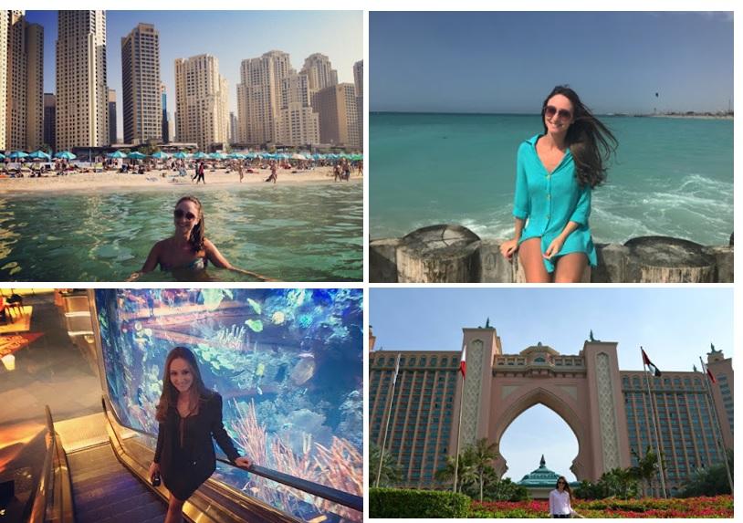 Nesta montagem, a jornalista Caroline Beber mostra como aproveitou a cidade de Dubai
