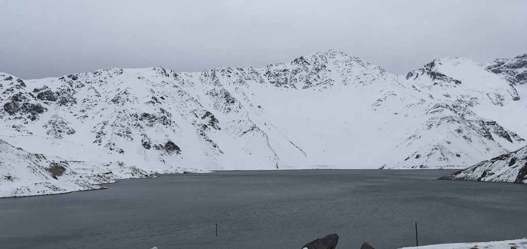A paisagem branca e gelada foi o passeio preferido nesta curta estada no Chile