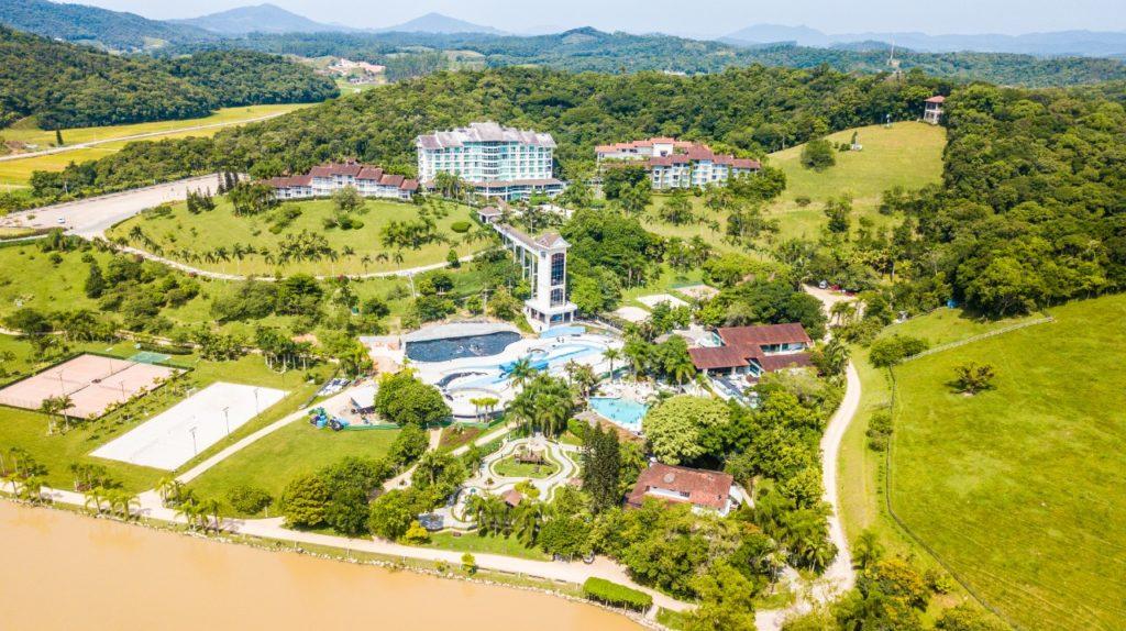 Uma vista geral deste que é um dos mais famosos hotéis rurais de Santa Catarina