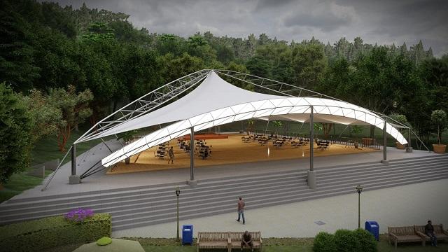 Nova tenda entre as novas opções de lazer do Fazzenda Park Hotel