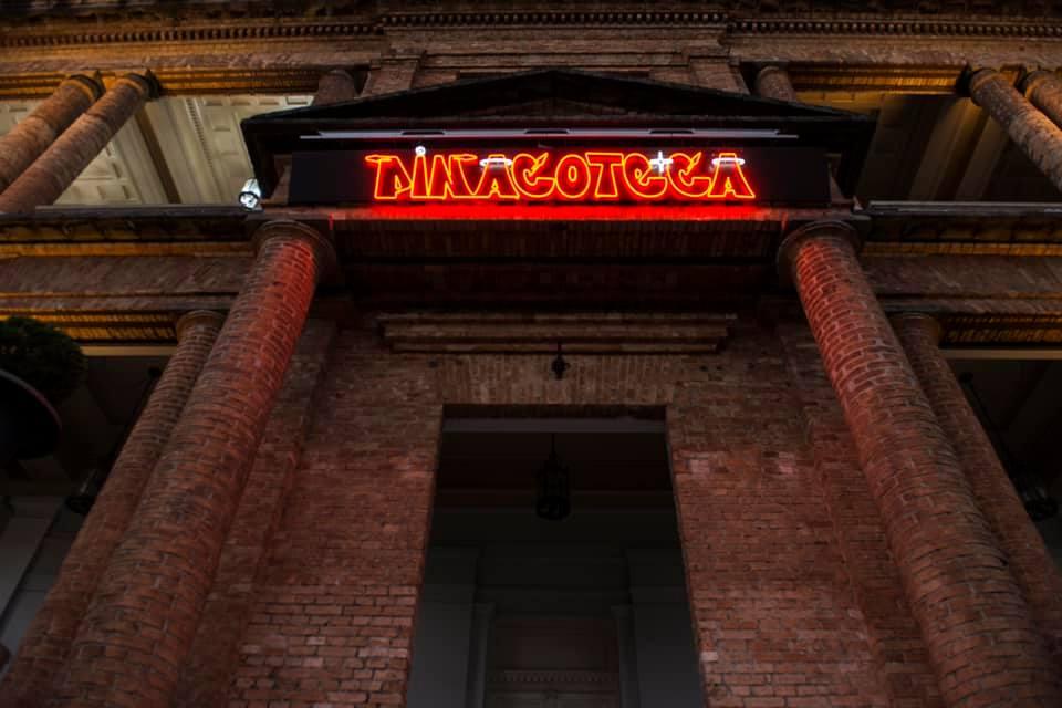 O que encontramos na Pinacoteca? Na entrada, esta novidade feita pelos OSGEMEOS