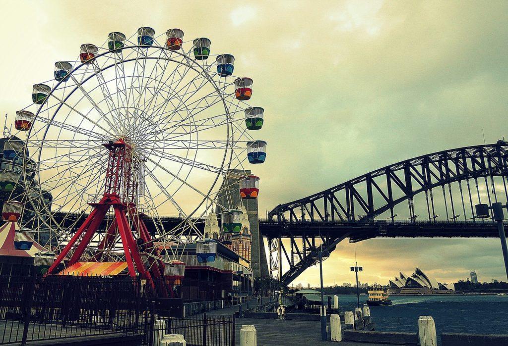 O Luna Park tem décadas de história e uma localização privilegiada, por isso integra esta lista de quais as melhores atrações em Sydney