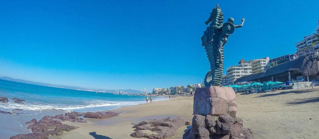 As praias estão na lista do que fazer em Puerto Vallarta