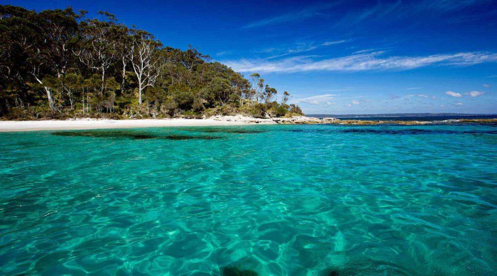 As praias são belíssimas em Jervis Bay