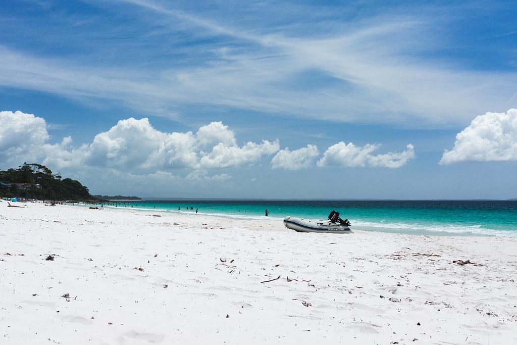 O que fazer em Jervis Bay na Austrália: conhecer as praias locais com as areias mais brancas do mundo
