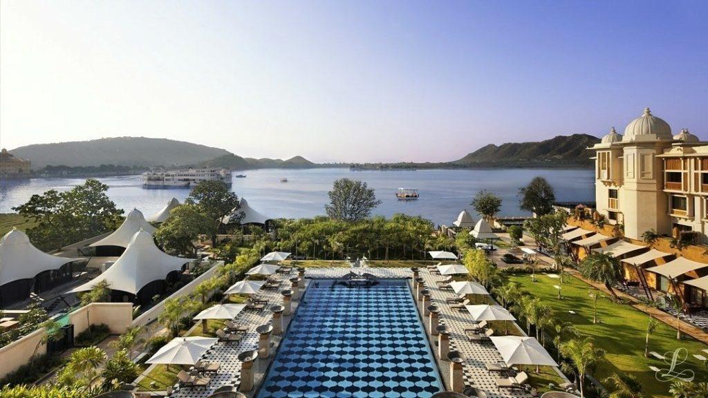 O The Leela mantém unidades em diferentes lugares e ganhou como a melhor rede de hotéis do planeta
