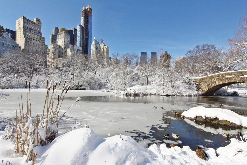 Nova York não tem altitude, mas tem forte ação das massas de ar polar do Ártico