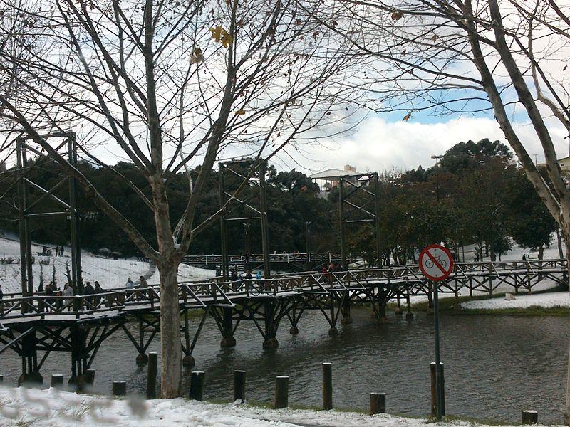 Cidades como Guarapuava já registraram neve