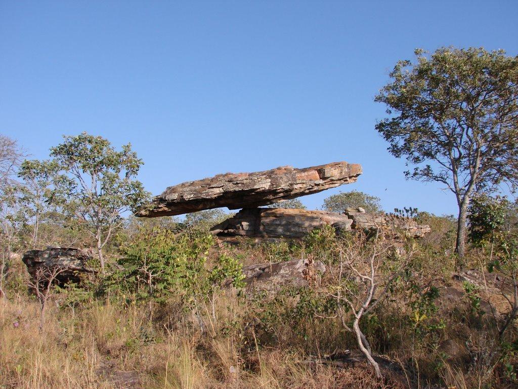 A Pedra do Chapéu do Sol pode ser vista em uma  viagem perto de Brasília