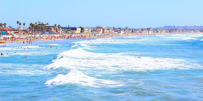 Pacific Beach figura entre as melhores praias de San Diego