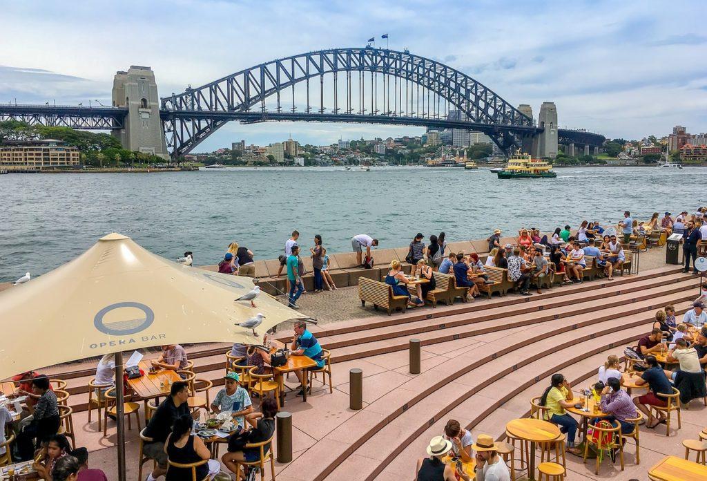 Nas ruas da Austrália já é possível perceber uma certa normalidade