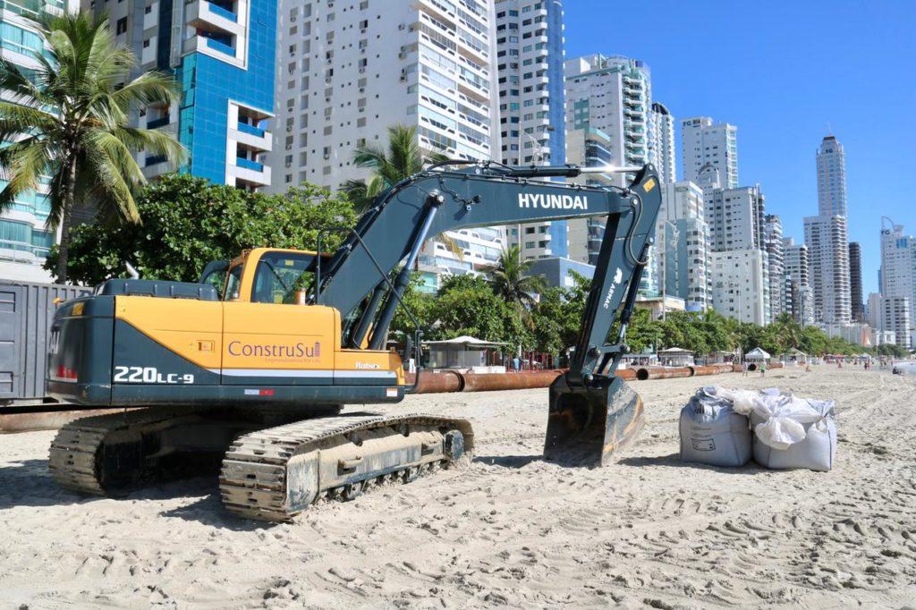 Galeria: fotos das obras da Praia Central