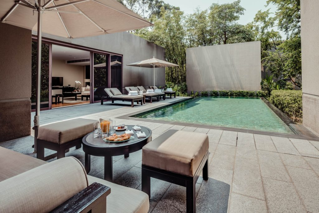 No coração de Singapura um recanto de luxo