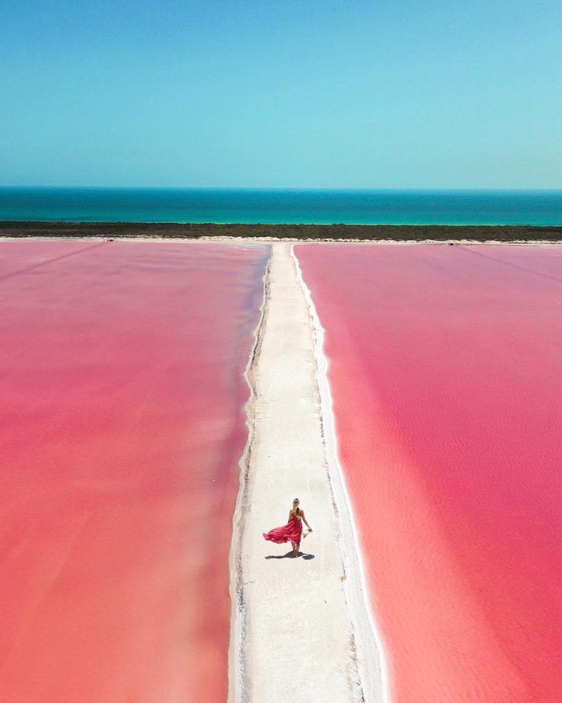 onde ficam os lagos cor de rosa? No México