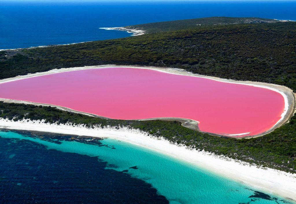 Na lista de onde ficam os lagos cor de rosa está a Austrália com vários deles
