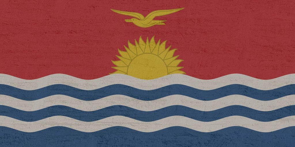 Bandeira de Kiribati, o país menos visitado do mundo